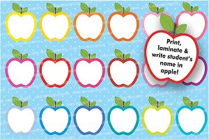 Apple Clipart, Outline, AMB-140