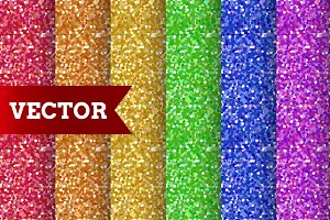 6 Seamless confetti patterns.