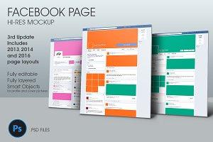 Facebook Page Hi-Res Mockup