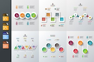 Diagrams for business infographic v4