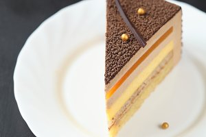 Piece of Multi-layered Velvet Mousse