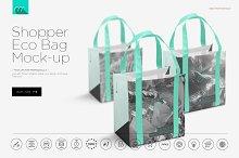 Eco Shopper Bag Mock-up
