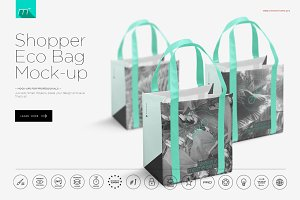 Eco Shopper Bag Mock-up