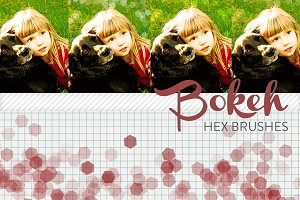 Bokeh Hex Brushes