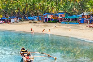 India, Goa, Palolem beach