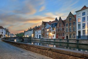 waters of Spiegelrei, Bruges