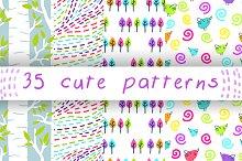 35pcs cute patterns