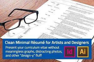 Minimal Résumé for Artists