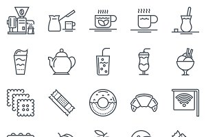 40 Coffee theme icons