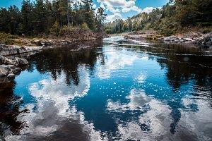 Nature lake reflection