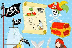 Pirate Ship Clipart AMB-175