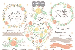 Wedding shabby chic orange