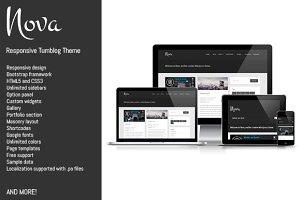 Nova, responsive clean Tumblog theme