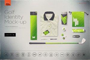Golf Company Identity Mock-up