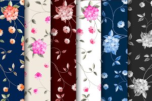 Fabric patterns collection.