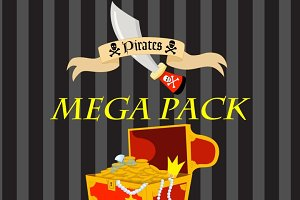 PIrate Clipart & Papers, AMB-102