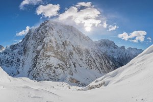 Amazing winter mountain panorama