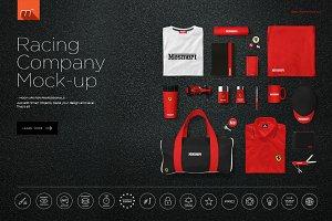 Car Racing Company Identity Mock-up