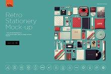 Retro Stationery Identity Mock-Up