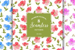 Set of 8 Seamless patterns.