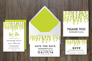 Wedding Invitation Suite greenleaves