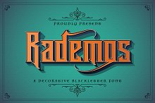 Rademos - Blackletter Font by  in Fonts