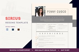 Resume Template Sirius
