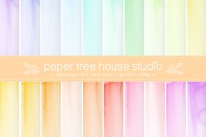 20 Watercolor Digital Papers