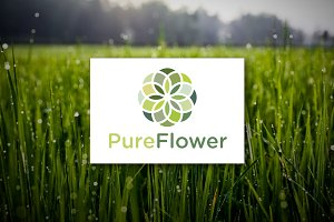 [68% off] Pure Flower - Logo Design