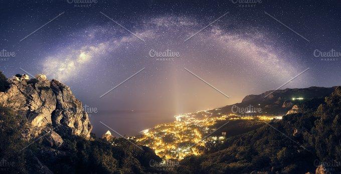 Milky Way. Night landscape - Nature