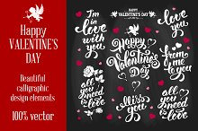 Set of Valentines Overlays