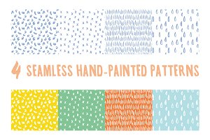 Hand-Painted Seamless Patterns
