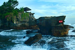 Old temple Tanah Lot on south coast of island Bali in Indonesia.jpg