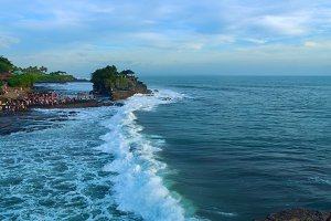 Temple Tanah Lot on south coast of island Bali.jpg