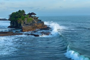 Temple Tanah Lot on south coast of island Bali in Indonesia.jpg