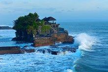Temple Tanah Lot on coast of island Bali in Indonesia.jpg