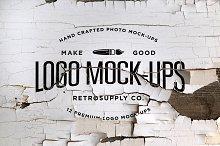 12 Vintage Logo Mock-ups