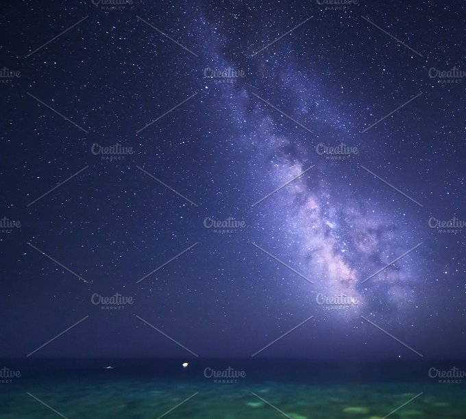 Milky Way background. Night sky - Nature