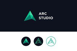 Arc Studio - Letter A Logo