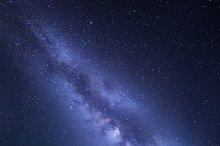 Milky Way background. Night sky