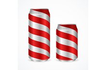 Aluminium Cans with Stripes.