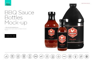 BBQ Sauce Bottles Mock-up