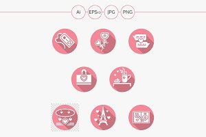 Happy Valentines Day vector icons