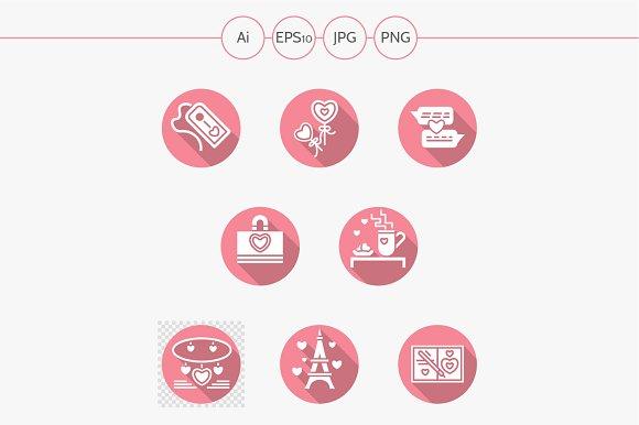 Happy Valentines Day vector icons
