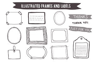 Hand Drawn Frames and Labels