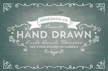 Hand Drawn Curls & Banners Vol. 1