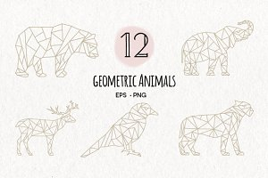 Geometric Animals EPS & PNG