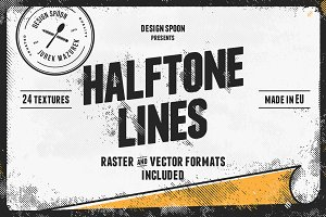 Halftone Lines - Texture Pack