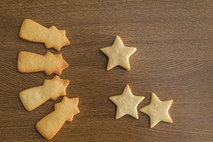 Star shaped butter cookies,Christmas