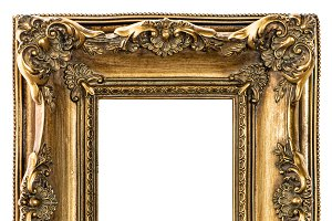 Golden picture frame JPG